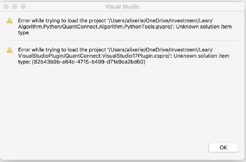 Error running LEAN (python module) by Chris Alteras - QuantConnect com