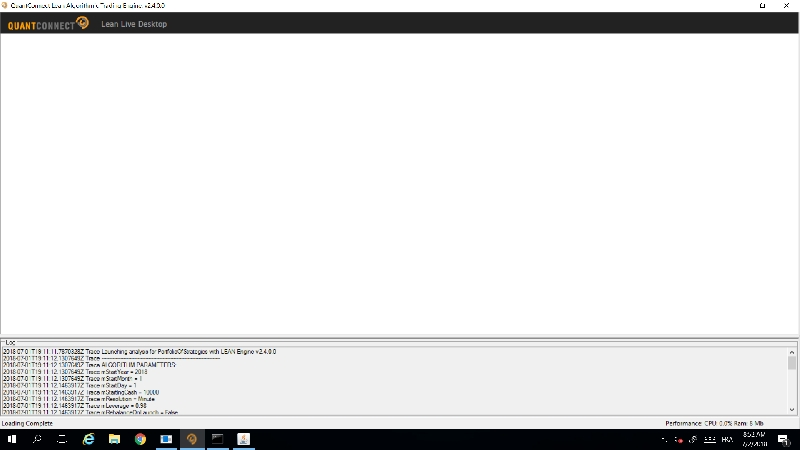 LEAN Desktop GUI - Issue to run it live with Interactive