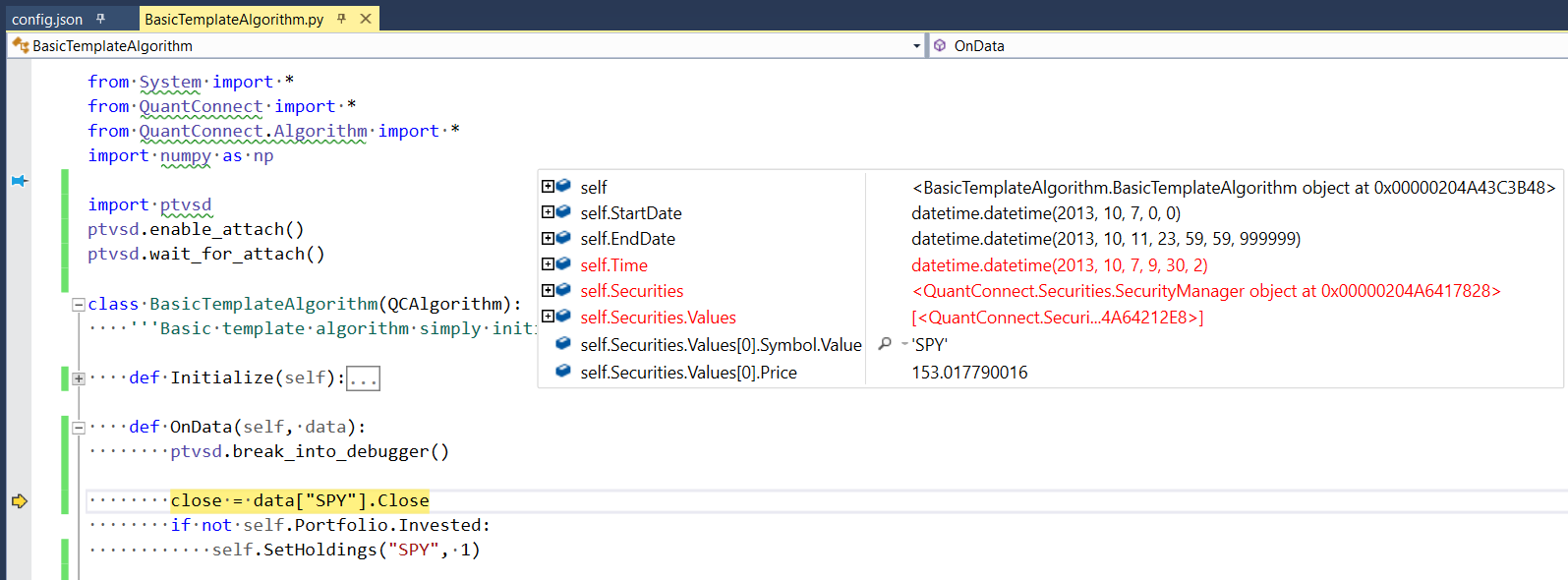 Tutorials - Open Source - Debugging Python in Visual Studio